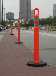photo of delineators in the street