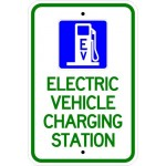 Electric Vehicle charging station sign image
