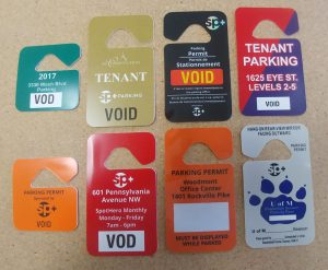 Photo of different hang tags