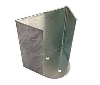 photo of metal base for media bollard