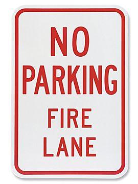 No parking fire lane sign image
