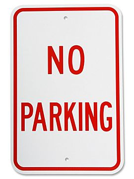 No parking sign image