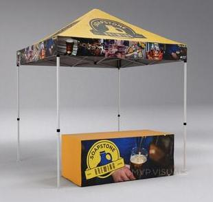 Photo of a tent canopy