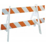 photo of a barricade two rails