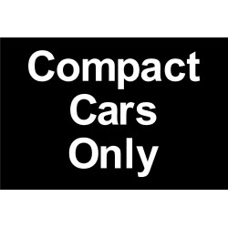 Compact cars only sign Image