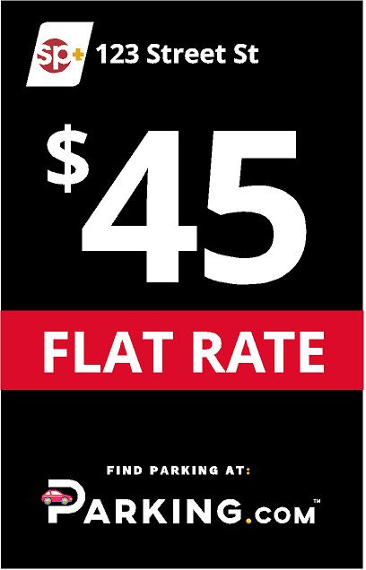 Flat rate sign image