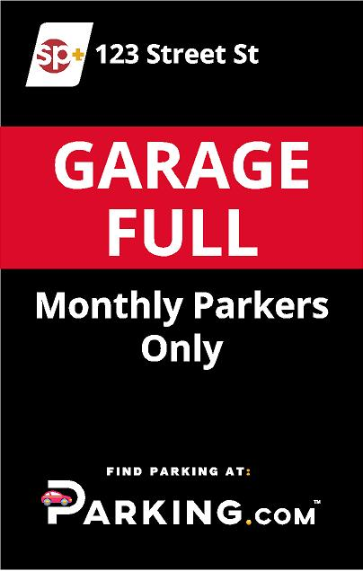 Garage full sign image