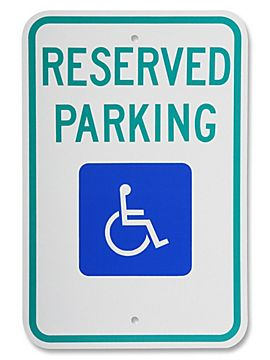 Handicap reserved sign image