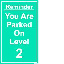 Level reminders sign image