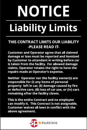 Liability disclaimer sign image