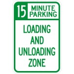 Loading and unloading zone sign image