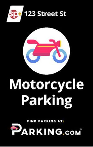 Motorcycle parking sign image