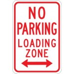 No parking loading zone sign image