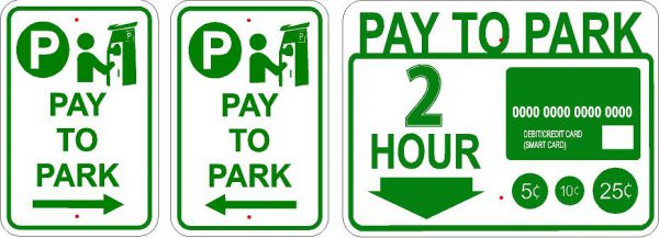 Pay to park sign image