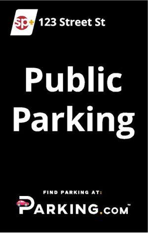 Public parking sign image