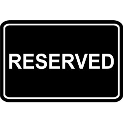 Reserved sign image