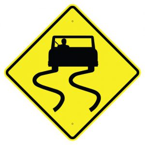 Slippery when wet symbol