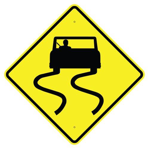 Slippery when wet symbol