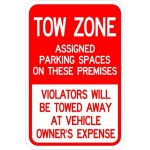 Tow zone sign image