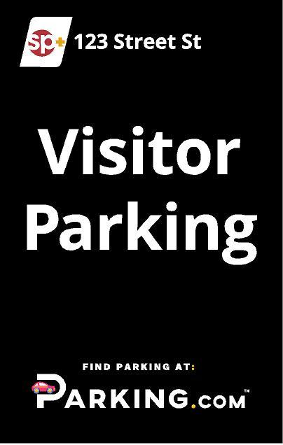 Visitor parking sign image