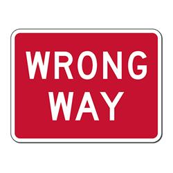 Wrong way sign image